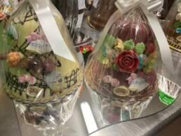 Campane di cioccolato decorate 900 gr
